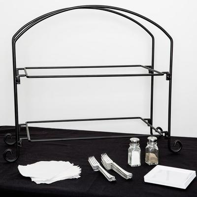 American Metalcraft IS12 Ironworks Two-Tier Rectangular D...