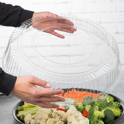 "WNA A16PETDM Checkmate 16"" Clear PET Plastic Round High D..."