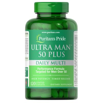 Puritan's Pride Ultra Man 50 Plus-120 Caplets