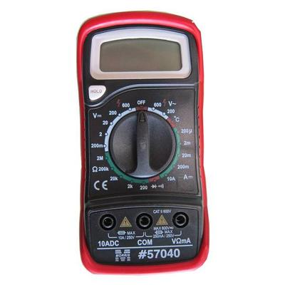 Morris Products 57040 Digital Multimeter With Rubber Holster And Temperature Probe