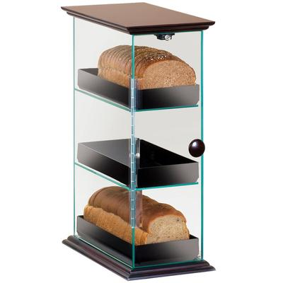 CAL-MIL 1204-52 Three Tier Bread Display Case with Wood T...
