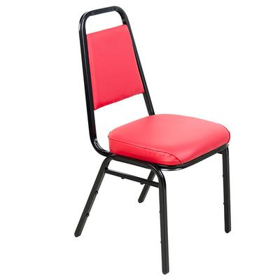 "Lancaster Table & Seating Red Stackable Chair with 2"" Pad..."