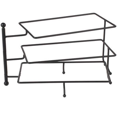 American Metalcraft Ironworks Display Stand, 3-Tier, 17-5/8 X 7-1/2 X 9-5/8, Swings Open From The Center, Hand Wash