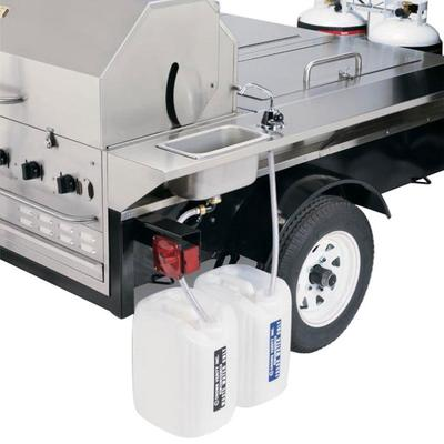 "Crown Verity TG-1 69"" Tailgate Grill with Beverage Compar..."