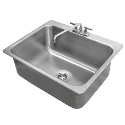 Advance Tabco DI-1-2812 Drop In Stainless Steel Sink - 28...