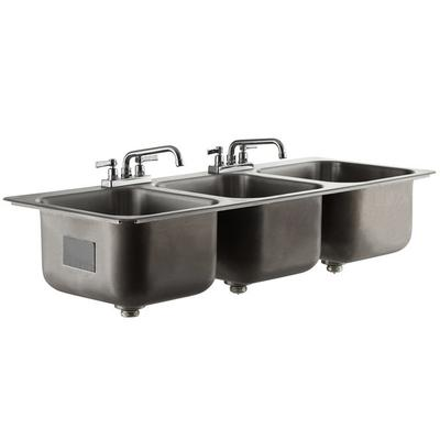 "Advance Tabco DI-3-1410 3 Compartment Drop In Sink - 16"" ..."