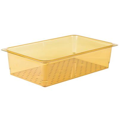 Cambro 15CLRHP150 H-Pan Full Size Amber High Heat Colande...