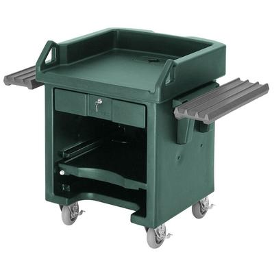 Cambro VCSWRHD519 Green Versa Cart with Dual Tray Rails a...