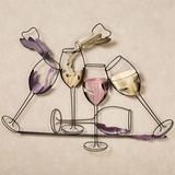 Celebrations Wall Sculpture | White Wine Red
