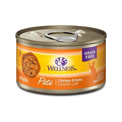 Wellness Complete Health Pate Chicken Entree Grain-Free Canned Cat Food, 3-oz, case of 24