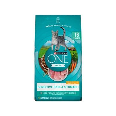 Purina ONE Sensitive Systems Adult Premium Dry Cat Food, ...