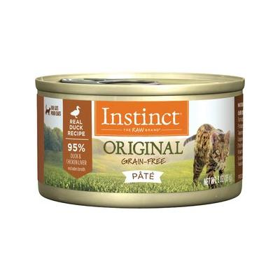 Instinct by Nature's Variety Original Grain-Free Real Duck Recipe Natural Wet Canned Cat Food, 3-oz, case of 24