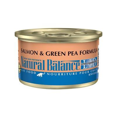 Natural Balance L.I.D. Salmon & Green Pea Canned Cat Food, 3-oz can, 24ct