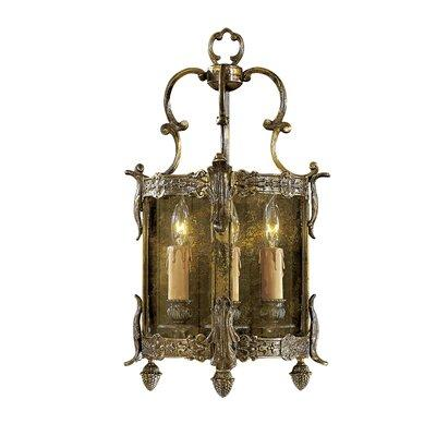 Metro Vac N2339 3 Light Candle-Style Lantern Wall Sconce from the Foyer Colle
