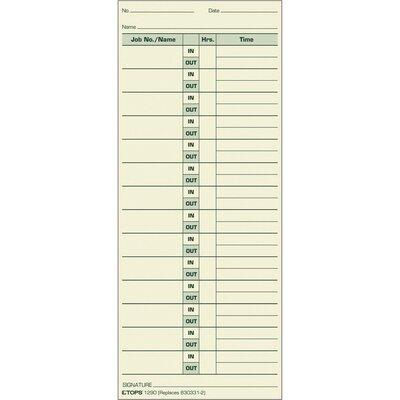 Tops BUSINESS FORMS Job Cards TOP1290