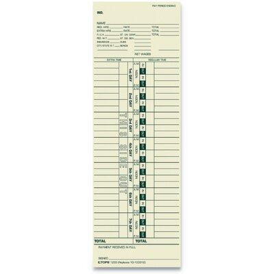 Tops Weekly One-Sided Time Cards - Pack Of 500, TOP1255
