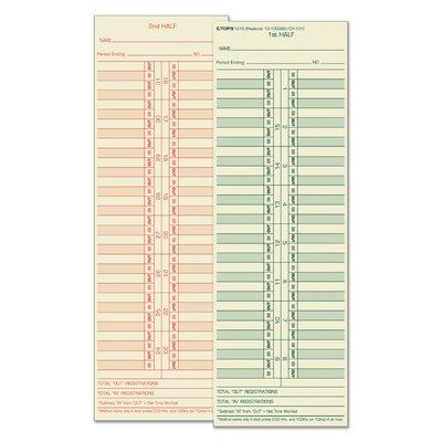 Tops BUSINESS FORMS Time Card for Cincinnati / Lathem / S...
