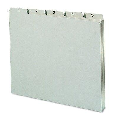 Smead Pressboard Daily Recycled Top Tab File Guides, 31/S...