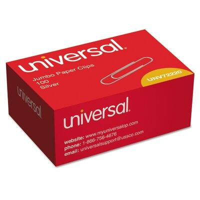 Universal Products Smooth Paper Clips, 100/Box, 10 Boxes/...
