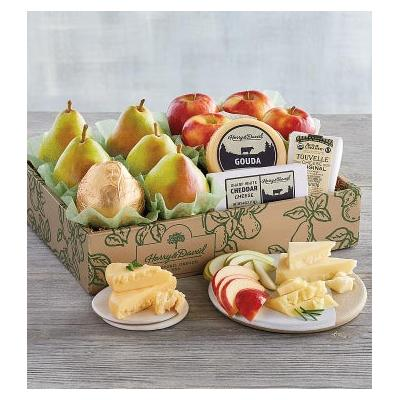 Deluxe Pears, Apples, and Cheese Gift - Gift Baskets & Fr...
