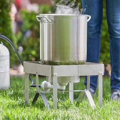 Backyard Pro Stainless Steel Single Burner Outdoor Patio ...