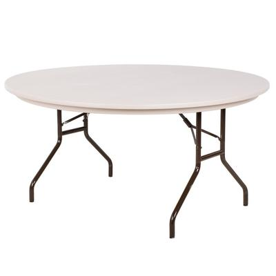 "Correll Round Folding Table, 60"" Tamper-Resistant Plastic..."