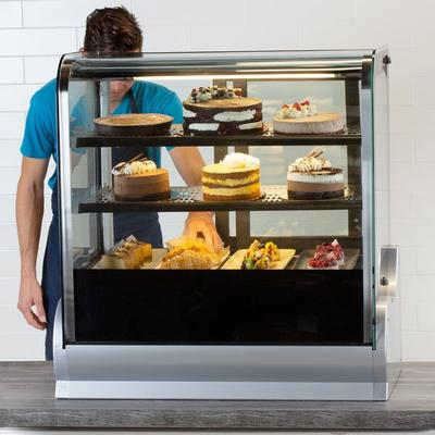 "Vollrath 40862 36"" Cubed Glass Refrigerated Countertop Di..."