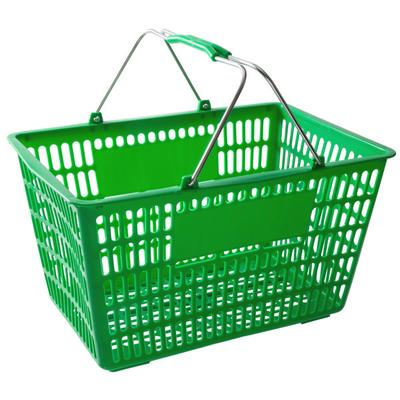 """Win Holt Green 18 3/4"""" x 11 1/2"""" Plastic Grocery Market S..."""