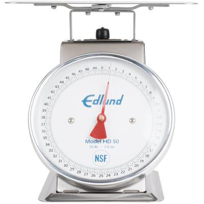 Edlund HD-50 50 lb. Heavy-Duty Receiving Scale with 10 3/...