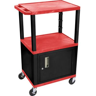 luxor WT2642RC2E-B Red Tuffy Two Shelf Adjustable Height ...