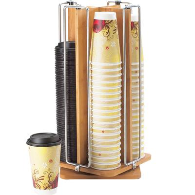 CAL-MIL Revolving Bamboo Cup And Lid Dispenser-1468