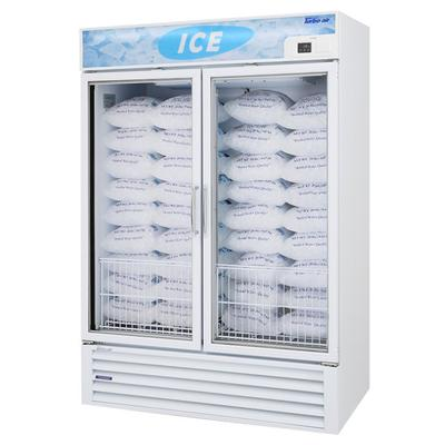 "Turbo Air TGIM-49 55"" White Glass Door Ice Merchandiser"