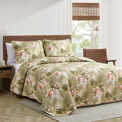 Tommy Bahama Home Tropical Orchid 3 Piece Reversible Quil...