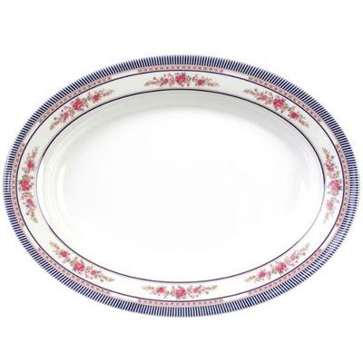 "Thunder Group 2110AR Rose 10"" x 7 1/2"" Oval Melamine Deep..."