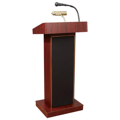 Oklahoma Sound 800XMY Mahogany Finish Orator Lectern with...