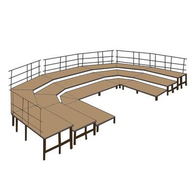 National Public Seating SP4816 Portable Stage Pie Unit wi...