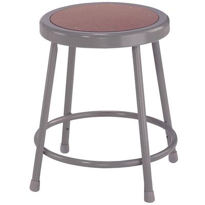 "National Public Seating 6218 18"" Gray Hardboard Round Lab..."