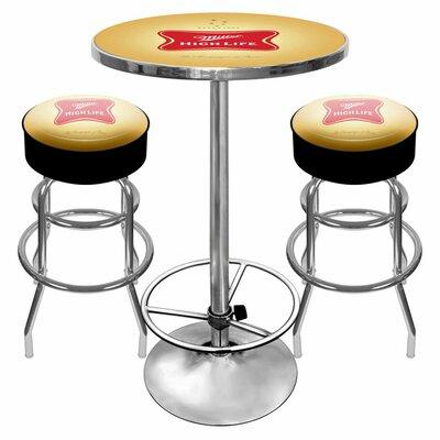Trademark Global Ultimate Miller High Life 3 Piece Pub Ta...