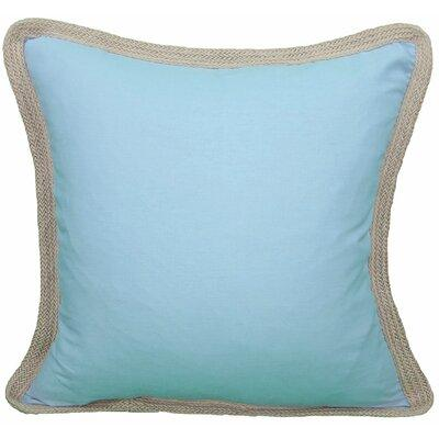 Color: Blue, Fill: Feather Manor Luxe Classic Throw Pillow Solid color pillows with jute braid trim. Beautiful on their own and fun to mix and match!Features: Materials: 50% Linen and 50% Cotton Zipped enclosure with removable insert Spot clean only...