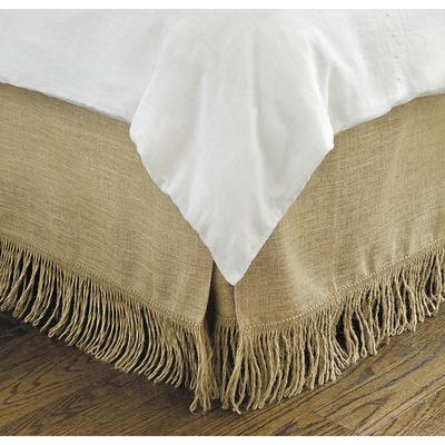 Ballard Designs Fringed Burlap Bedskirt Natural Daybed