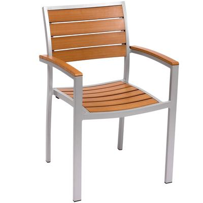 BFM Seating PH101CTKSV Largo Outdoor / Indoor Stackable S...
