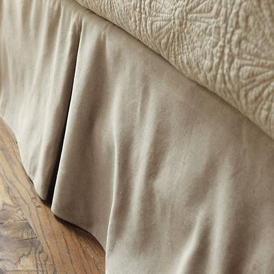 Ballard Designs Ballard Tailored Bedskirt Natural Linen D...