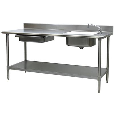 Eagle Group Stainless Steel X X Enclosed Work - Enclosed stainless steel work table