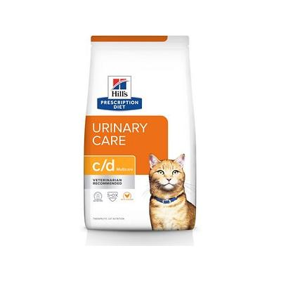 Hill's Prescription Diet c/d Multicare with Chicken Urinary Tract Health Dry Cat Food, 17.6-lb