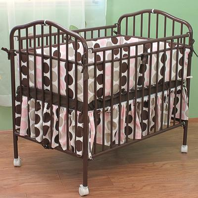 "L.A. Baby CS-81 24"" x 38"" Chocolate Colored Metal Folding..."