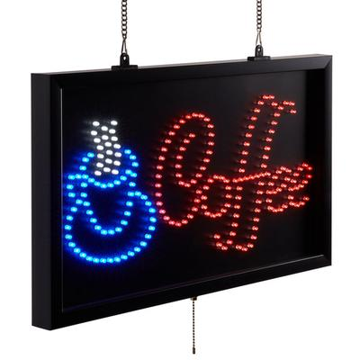 """Choice 22"""" x 13"""" LED Coffee Sign With Three Display Modes"""