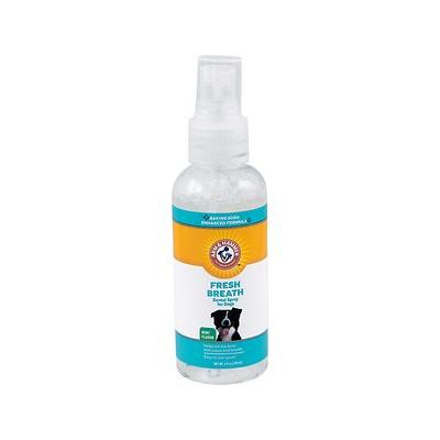 Arm & Hammer Dental Advanced Care Fresh Breath & Whitening Dental Spray for Dogs, 4-oz bottle; Cleans and deodorizes with the power of baking soda. The Arm & Hammer name has been trusted for over 100 years for gentle yet effective cleaning. They now...