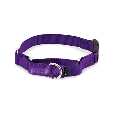 PetSafe Premier Quick Snap Martingale Dog Collar, Deep Purple, Medium, 1-in; This martingale-style dog collar has an added quick-release snap buckle for easier on and off. Martingale collars are safer than choke chains or prong collars. Used with a...