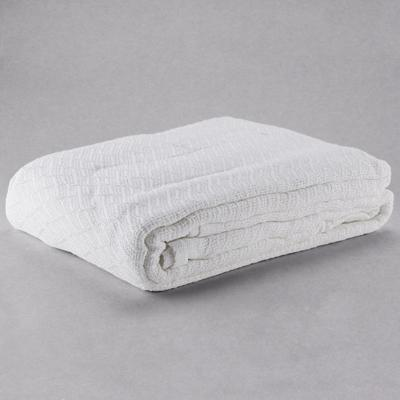 Each 100% Cotton Hotel Blanket - Thermal Herringbone - Wh...