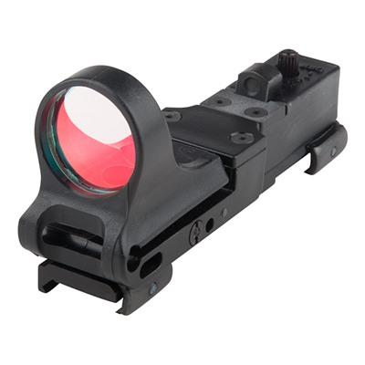 C-More Systems Railway Red Dot Sight - Railway Polymer Red Dot Sight 8 Moa Standard Switch Black